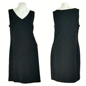 Talbots Classic Black Sleeveless Sheath Dress